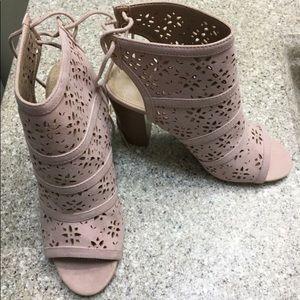 JustFab heeled sandals.